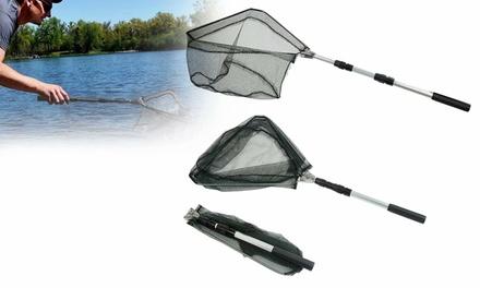 Fishing Landing Net with Telescoping Pole Handle Fishing net for Safe Fishing