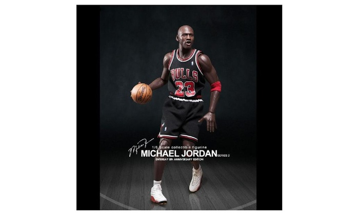 Enterbay X Nba Michael Jordan (Series 2)  23 Away Black Jersey Figure  e9e9e1b52