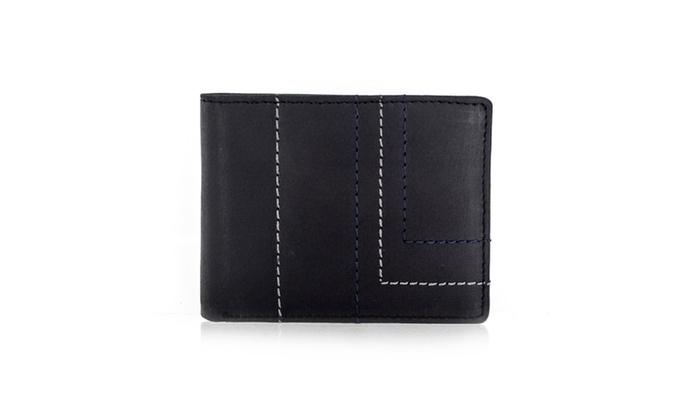 Faddism Series Men's Genuine Leather Bifold Wallet With Design