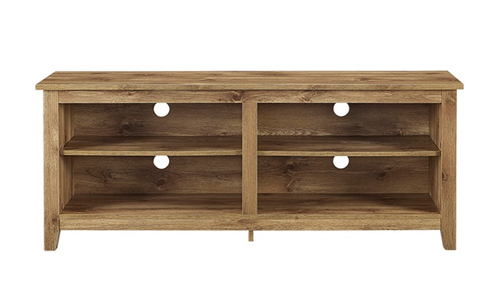 Wood Tv Stand For Tvs Up To 60 Multiple Finishes Groupon
