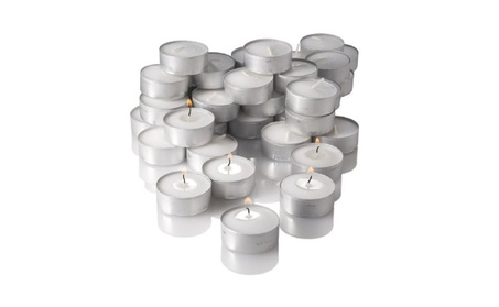Richland Unscented Tealight Candles, White, Set of 125 bb06507a-1851-4ec2-af3b-b7ff30571903