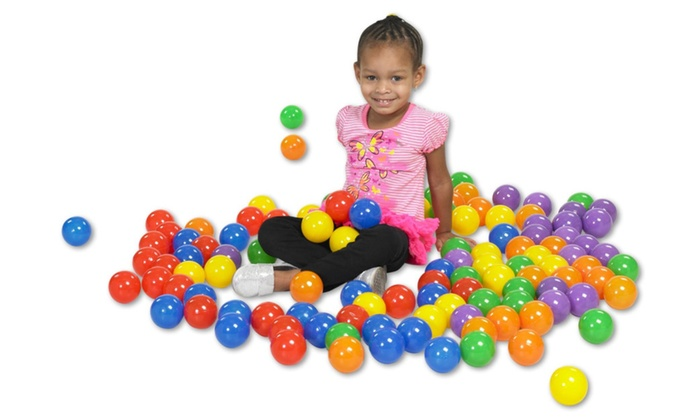 Clickhere2shop: ECR4Kids SoftZone Primary Balls 120 Piece - Assorted