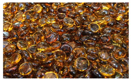 Caramel Fire Glass Beads For Fire Pit or Fireplace 10 lbs 7a571054-64ad-4f0d-a6fe-642d4a28a4ce