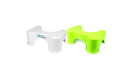 Houseasy Toilet Stool Bathroom Step Fits All Size Toilets