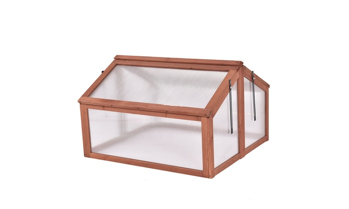 Up To 34% Off on Double Box Garden Wooden Gree... | Groupon Goods