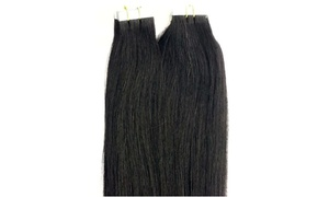 "100% Human Tape In Hair Extensions 100gr,40pcs Premium Quality 18""-20"""