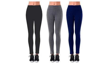 Ladies Plain Yoga Leggings aee784bf-ac47-48c6-bc6f-cd574bfec149