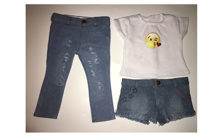 Ripped Jeans, Frayed Shorts, Emoji T For American Girl Dolls 32256bb4-98b2-4f0a-b418-b6a44cb2cfa6