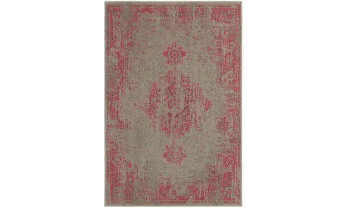 Monarch Vincent Grey Pink Overdyed Area Rug Groupon