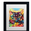 Dean Russo 'Manx' Matted Black Framed Art