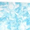 Blue Flowers Floral Metal Wall Art 28x12