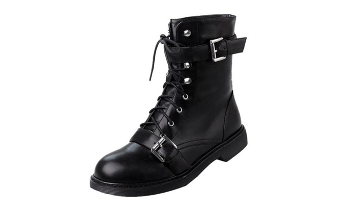 Women's Lace up Simple Marten Boots