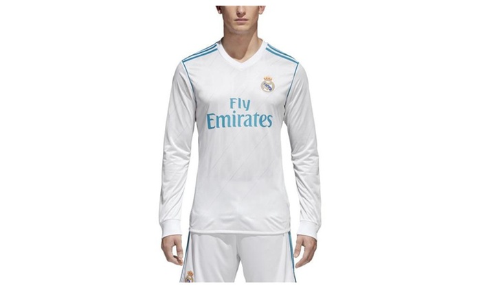 brand new 89572 c6f47 Men's Soccer Real Madrid Home Jersey Long Sleeve