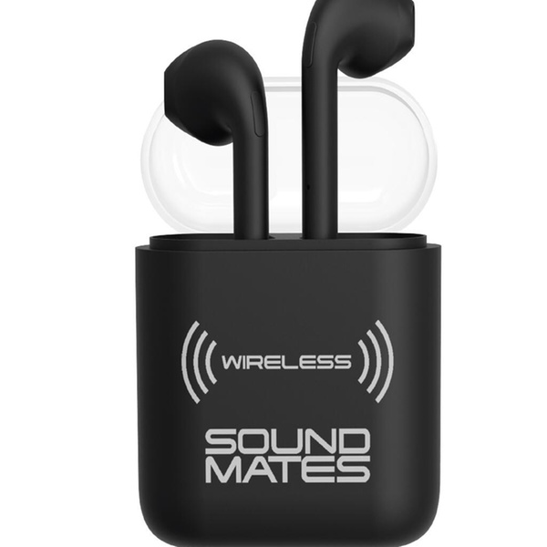 Bluetooth WIreless Sound Mates Earbuds High def sound by Tzumi - Black