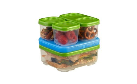 Rubbermaid LunchBox Sandwich Kit, Food Storage Container, Green b8661f78-bba8-48bd-b482-1a105e68d6fe