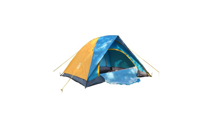 Dual-person Double-layer Waterproof Polyester Cloth Camping Tent