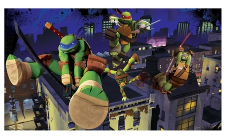 Teenage Mutant Ninja Turtles Cityscape Chair Rail Prepasted Mural 3edeb35d-97fa-4606-b977-8feb4100a9d9