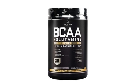 Sascha Fitness BCAA, Pre, Intra and Post-Workout Piña Colada 12.3oz