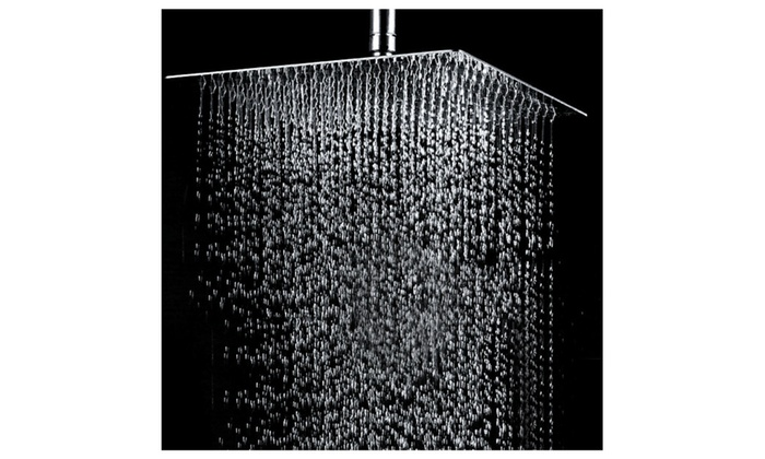 12 Square Stainless Steel Rain Shower Head Groupon