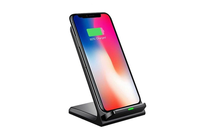 up to 53 off on qi compatible wireless charger groupon goods. Black Bedroom Furniture Sets. Home Design Ideas