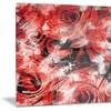 Red Rose Garden Floral Metal Wall Art 28x12