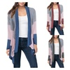 Women's Casual Open Front Long Sleeve Cardigan (Two Pieces)