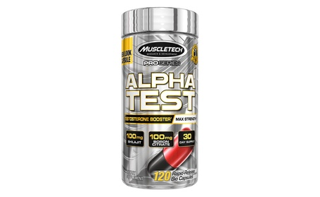 MuscleTech Pro Series AlphaTest, Max-Strength Testosterone Booster