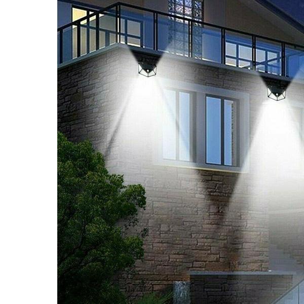 Waterproof Solar Powered PIR Motion Sensor LED Light Garden Security Wall Lights