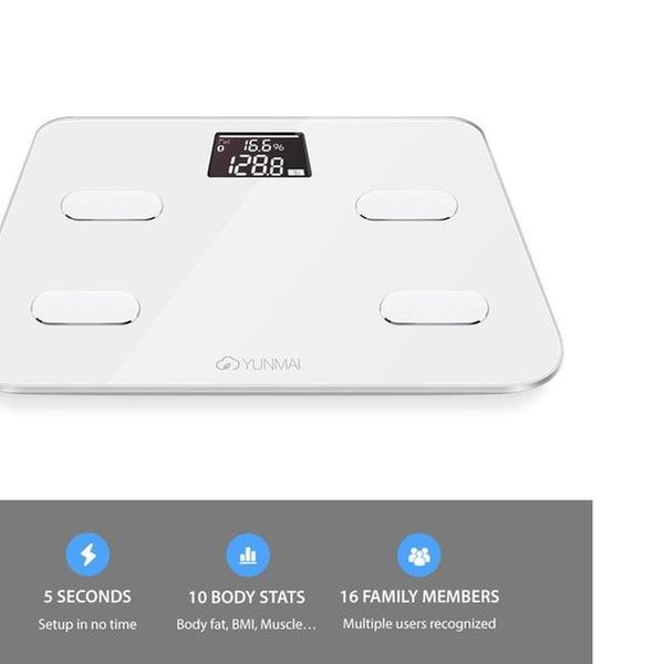 e96b260855f Yunmai Bluetooth 4.0 Smart Scale and Body Fat Monitor | Groupon