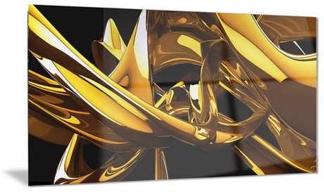 Red VS Blue Abstract Metal Wall Art 28x12 c1d5613b-70ed-4b9e-9a97-67937a0b0afe