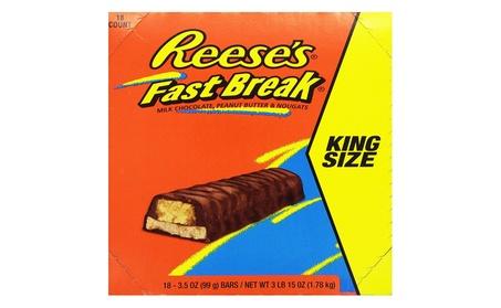 REESE'S Fast Break King Size Bar, Pack of 18, Halloween Candy 68777ea2-45df-46af-ac37-fcc0e34af254