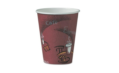 SOLO Cup Company OF8BI-0041 Bistro Design Hot Drink Cups- Paper- 8 oz. fe70f967-4524-433e-8efd-b5e29bf95f88