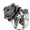 Rose Flower Rings For Women Romantic Vintage