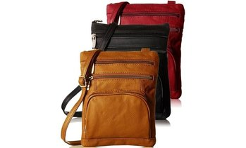 Super Soft Leather Crossbody Bag with Plus Size Option- 13 Colors