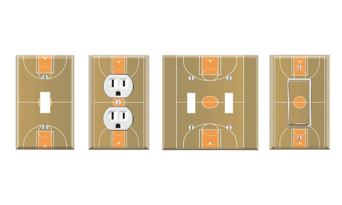 Toggle/Rocker Switch/Outlet Cover Decor Wall Plates - Basketball Court
