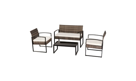 Oshion Courtyard 4-piece Leisure Rattan Furniture Wicker Chair