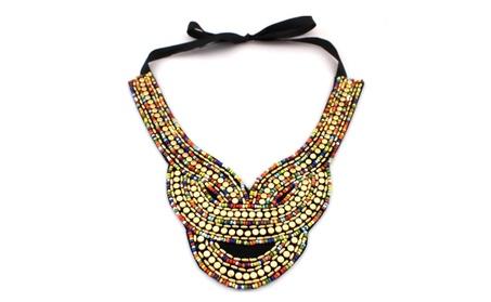 Multicolor Handmade Candy Beads Collar Necklace for Women 9847e3da-5c87-4c34-8ba8-111e3f2d5d29