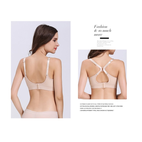 8efea27b6 Nursing Bra Maternity Seamless with Removable Spill Prevention 3 Pack