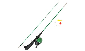 Fishing Rod and Reel Combo with Tackle Set (9-Piece)