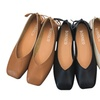 Women's Shoes Low-heeled Shoes Bow Shallow Square Head Flat Shoes
