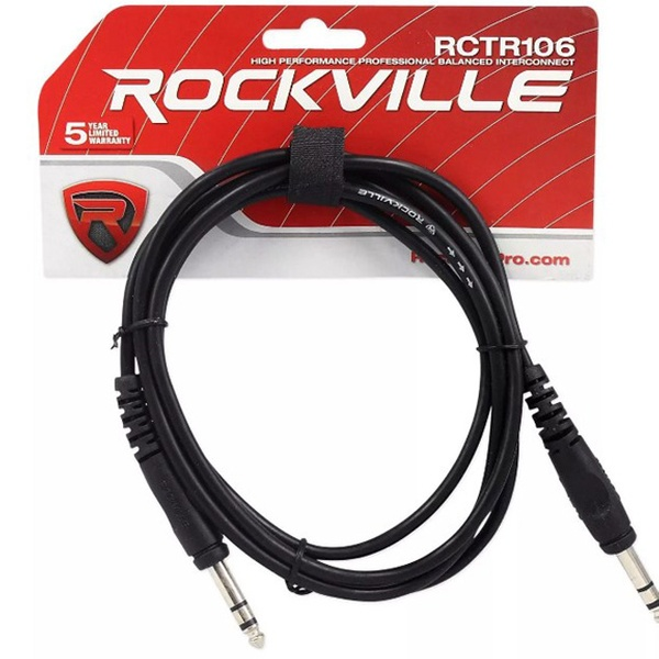 Rockville 3' 1-4 TRS to 1-4 TRS Balanced Cable, Black, 100% Copper