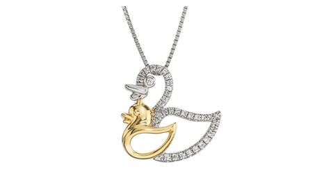 Diamond Dove Mom & Child Necklace e58a710b-f330-42a4-90fb-15d4d68e6fb4