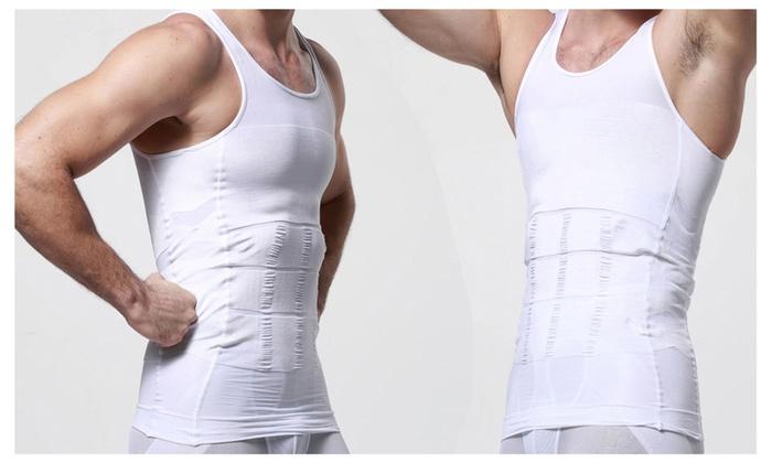 Men's Body Shaper For Men Slimming Shirt Tummy Waist Vest Lose Weight
