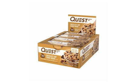 Quest Nutrition Protein Bar, Chocolate Chip Cookie Dough Pack of 12