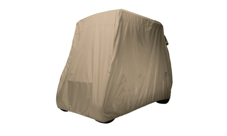 Classic Accessories Golf Cart Cover Short Roof Light Khaki 59f42648-f199-4556-b77c-03f6c0fffb1f