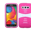 Insten Silicone Hybrid Rubber Case W Stand For Galaxy Avantpink White