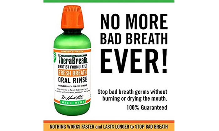 TheraBreath Dentist Formulated Mild Mint Oral Rinse (2 Pack)