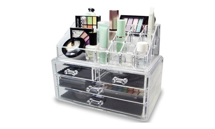 Acrylic Jewelry Makeup Cosmetic Organizer Case Storage Display Box