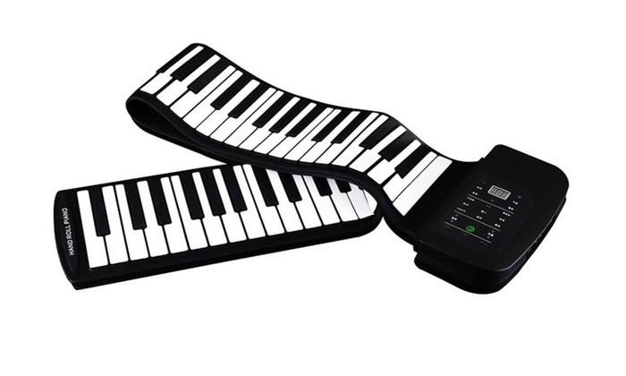 977d6733c7b 88 Keys Silicone Flexible Roll Up Piano Keyboard Hand-rolling Portable