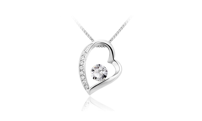 Floles - We Don't Make Mistakes: Hearth Pendant Necklace With Swarovski Crystal Elements